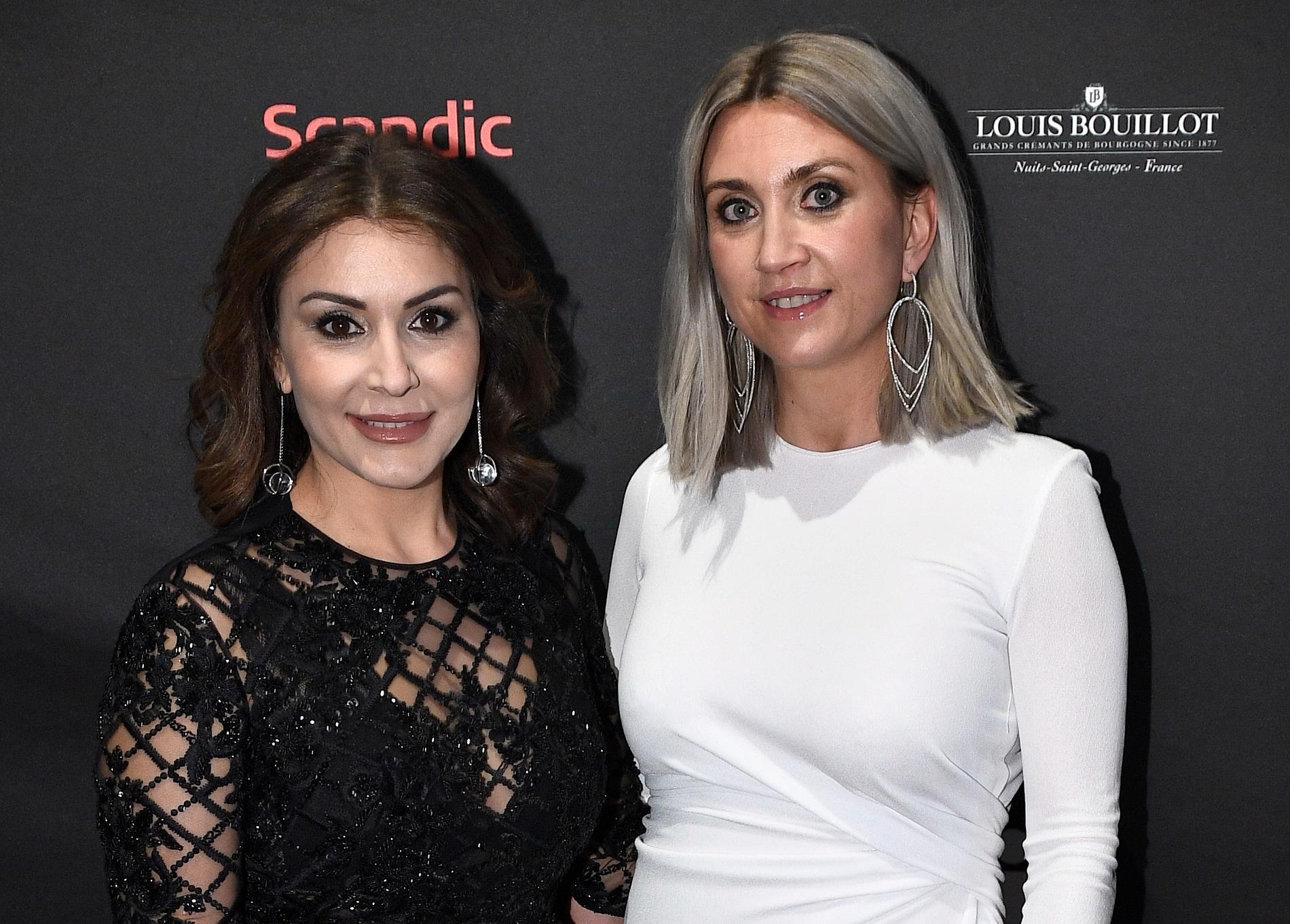 Christina Saliba och Camilla Läckberg på Guldbaggegalan 2017.