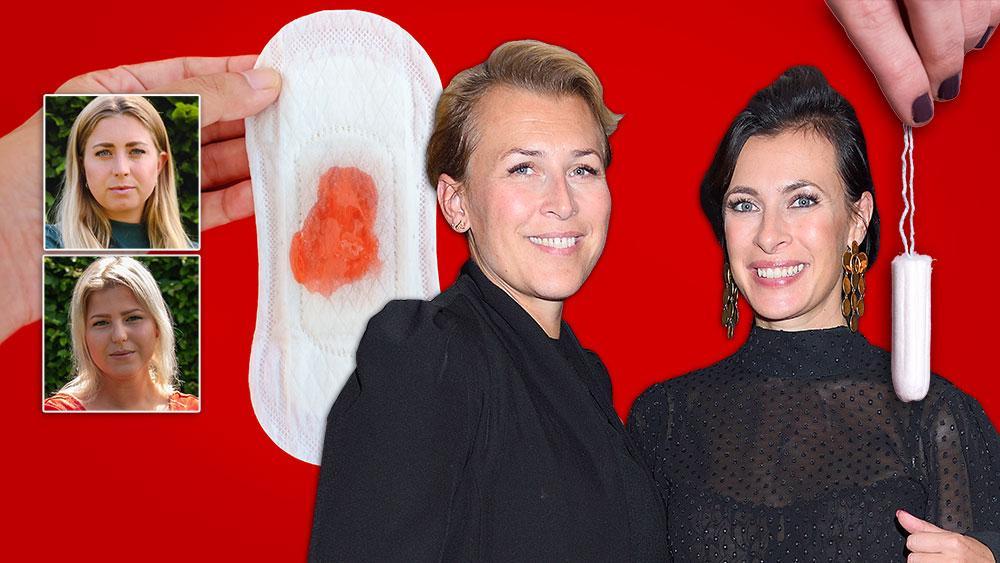 På Hannah Widells och Amanda Schulmans  företag möjliggör man för dem som arbetsgivare att kartlägga de anställdas menscykler för att medarbetare och chefer ska veta vilken del av menscykeln kvinnorna på jobbet är i. Bilden är ett montage.