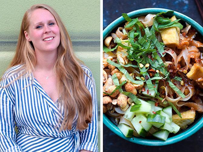 Här är Annie Månssons tips på snabb, billig och smarrig vegomat, som inte ger avkall på smakerna. Till exempel jordnötsnudlar med gurka och mynta.