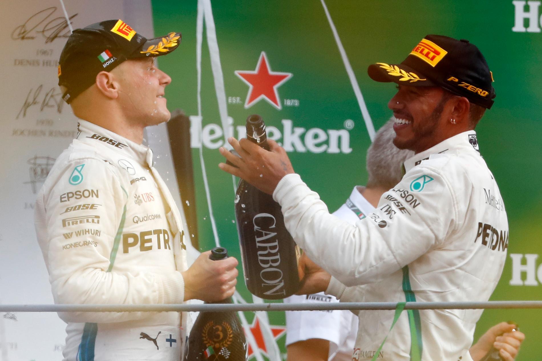 Mercedes hade två förare på pallen efter Italiens GP i F1 2018.