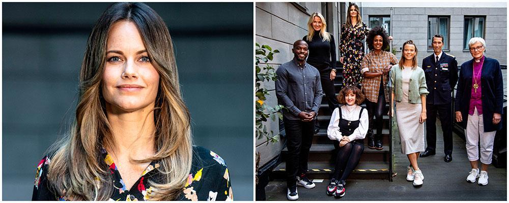 Prinsessan Sofia är ny i Svenska Hjältars jury 2020. Här tillsammans med resten av juryn: Kodjo Alkolor, Kristin Kaspersen, Shima Niavarani (sittande), Marika Carlsson, Margaux Dietz, Micael Bydén och Antje Jackelén.