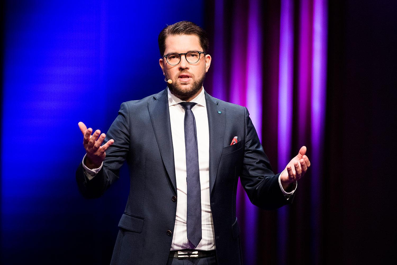 SD-ledaren Jimmie Åkesson.