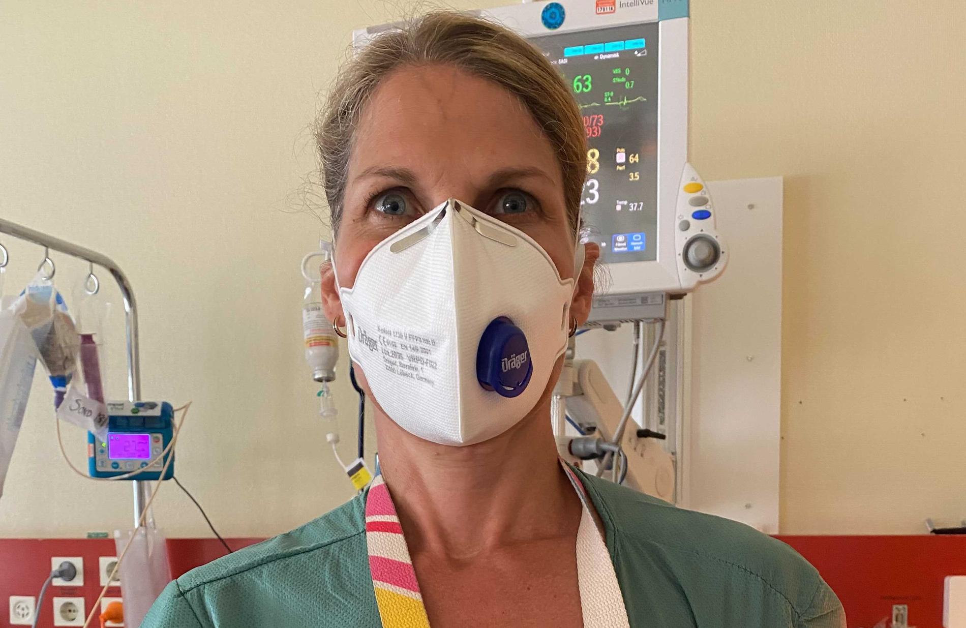 Karin Frisell, överläkare och medicinskt ledningsansvarig på intensiven på Mälarsjukhuset i Eskilstuna.