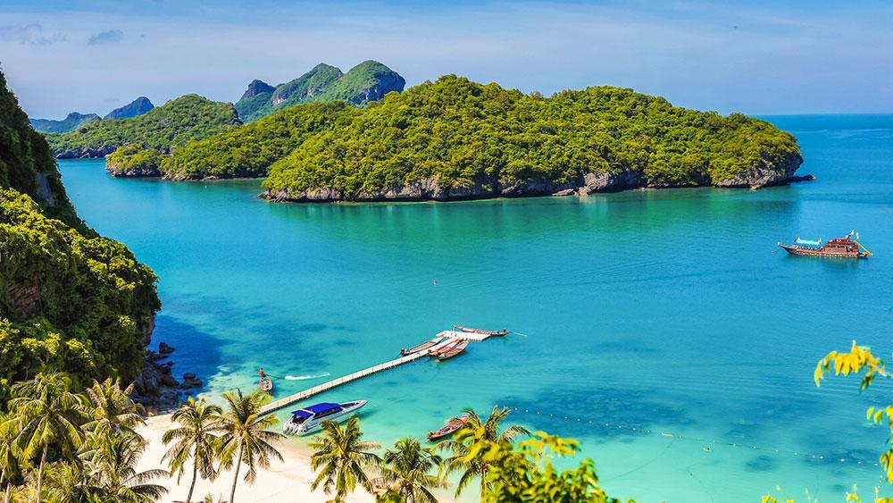 Den marina nationalparken Angthong på Koh Samui är väl värd ett besök.