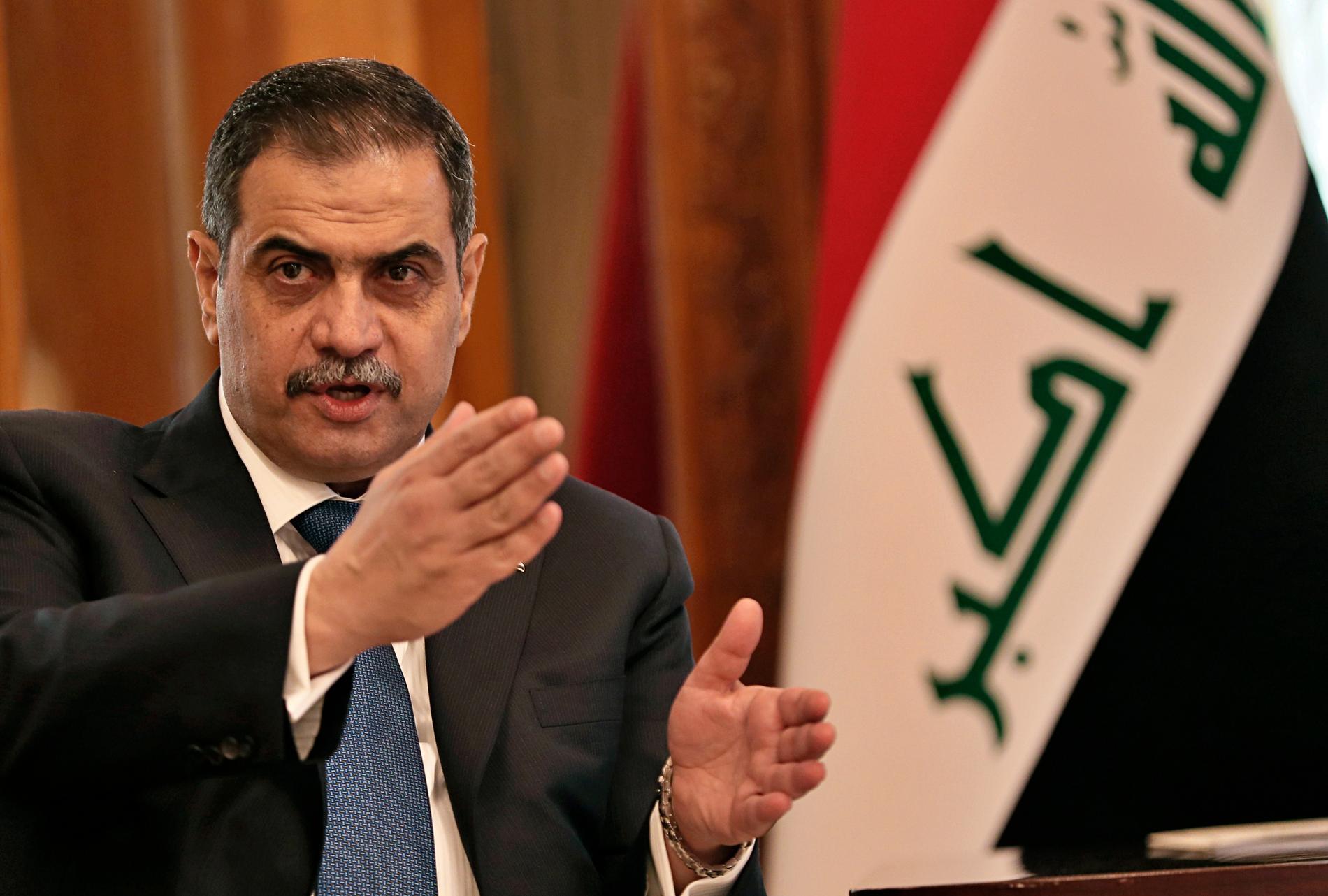 Iraks försvarsminister Najah al-Shammari.