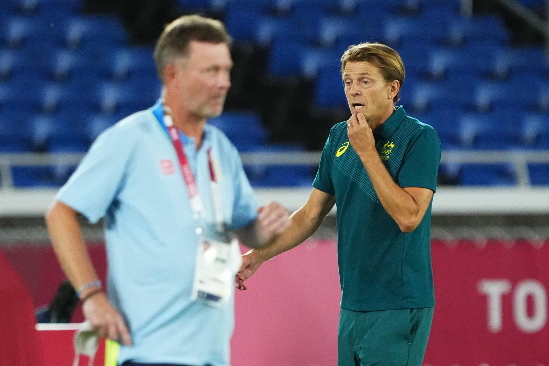 Australiens tränare Tony Gustavsson.