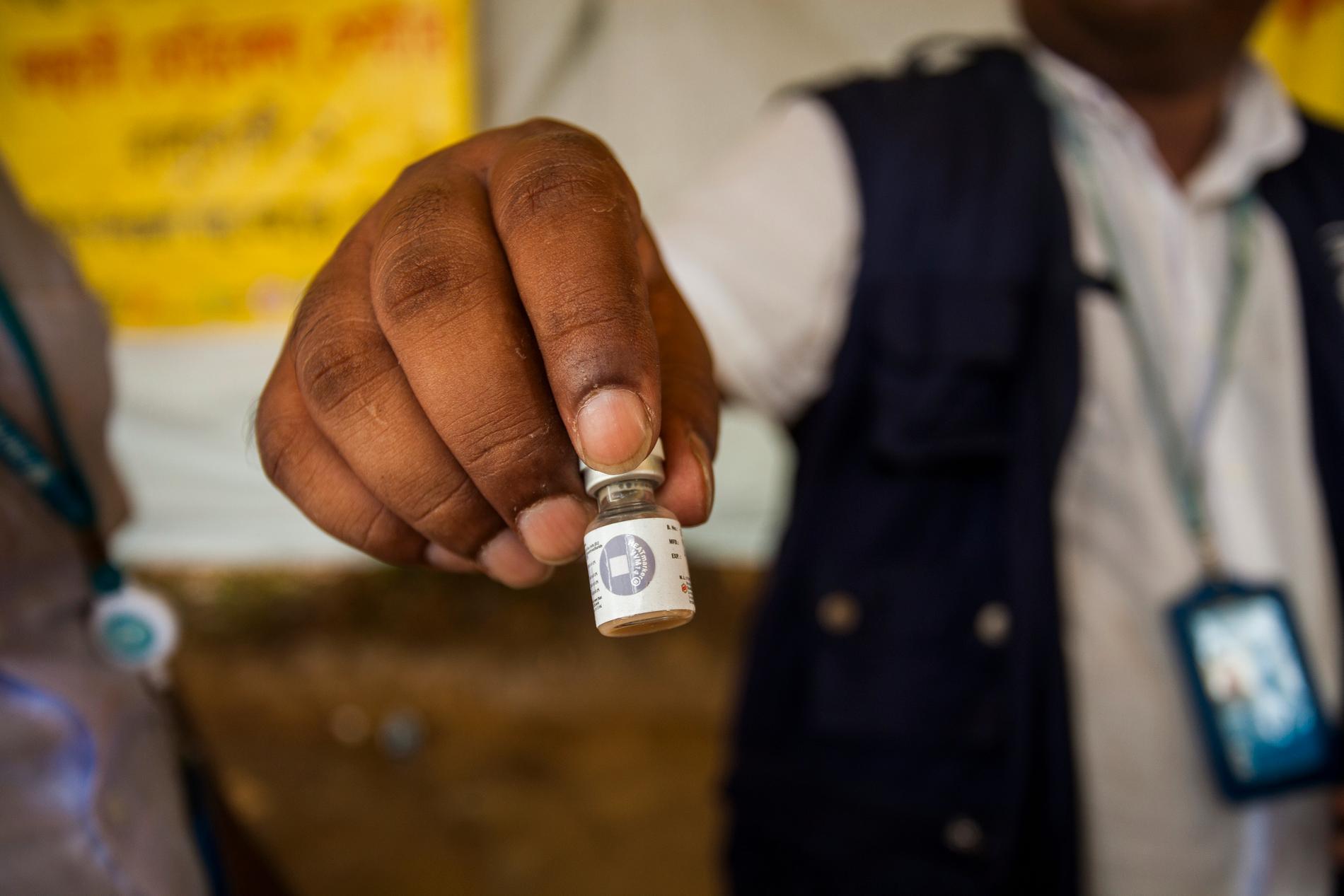 Vaccinering mot kolera i flyktinglägren i Cox's Bazar, Bangladesh 2017.