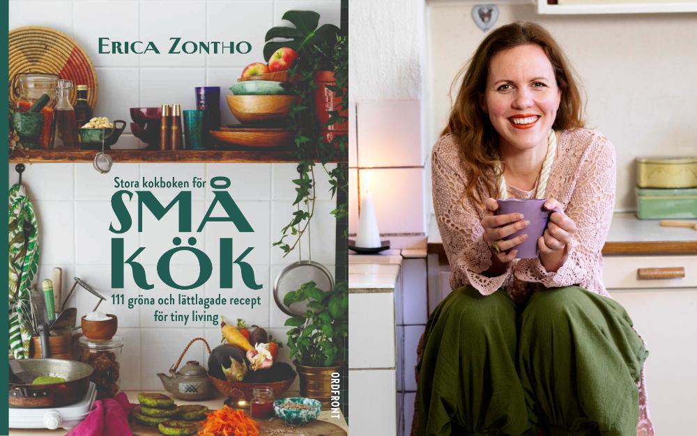 Erica Zontho med sin Stora kokboken för små kök.