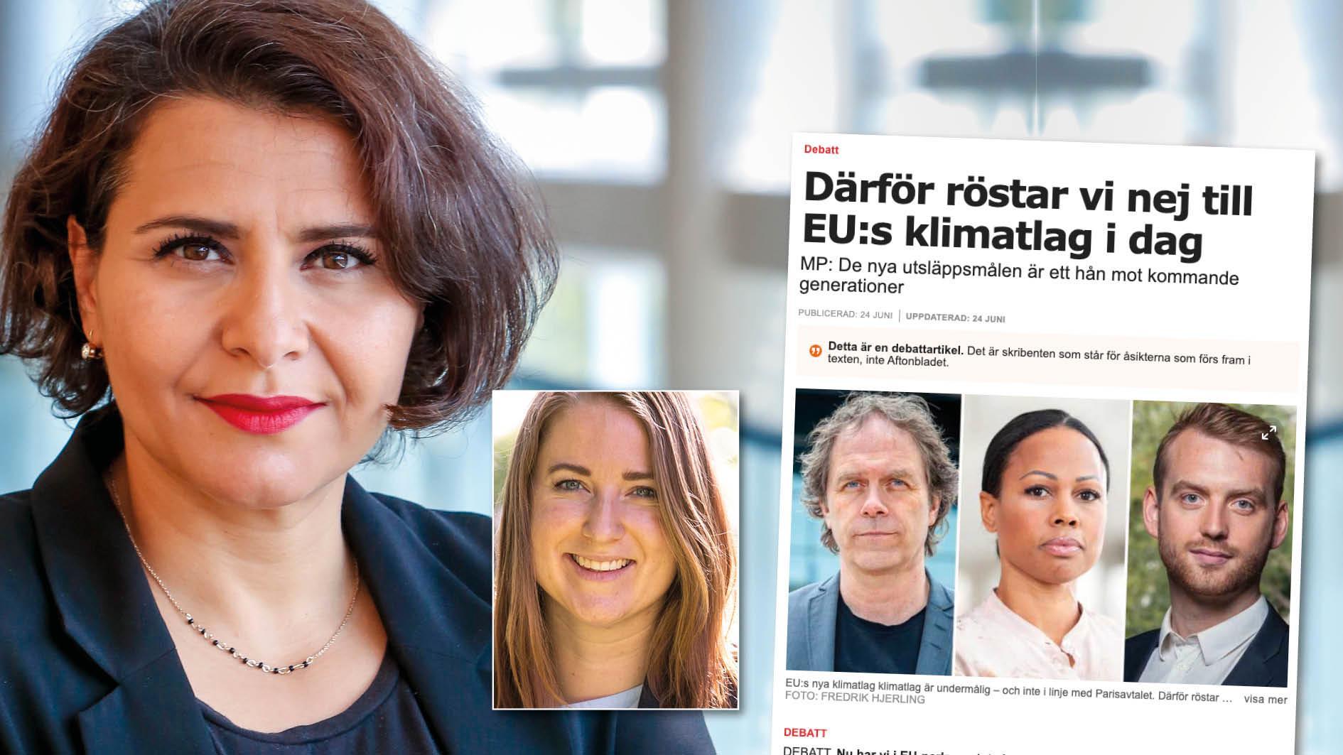 """Vi i C är inte heller nöjda med slutresultatet. Men vad hade hänt om alla som var missnöjda med klimatlagen röstat """"nej""""? Då hade vi inte fått en klimatlag på plats. Replik från Emma Wiesner och Abir Al-Sahlani."""