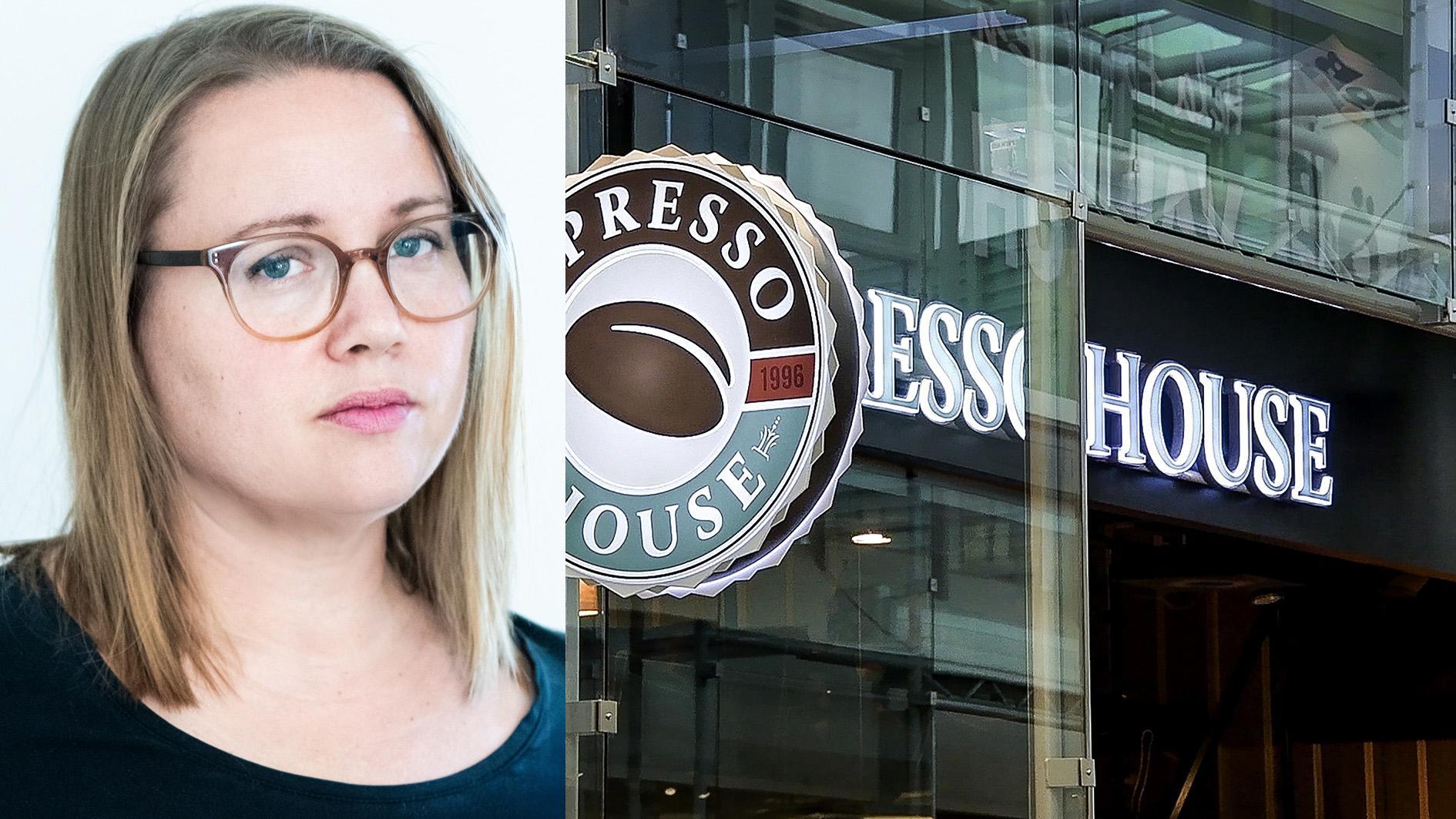 """Gentrifierade städer försöker likna varandra, i stället är det samma Espresso House i Stockholm, Karlstad, Västerås. """"Det är här, ute i landet där inga kedjor vill etablera sig, som jag känner igen mig"""", skriver Sofia Lilly Jönsson."""