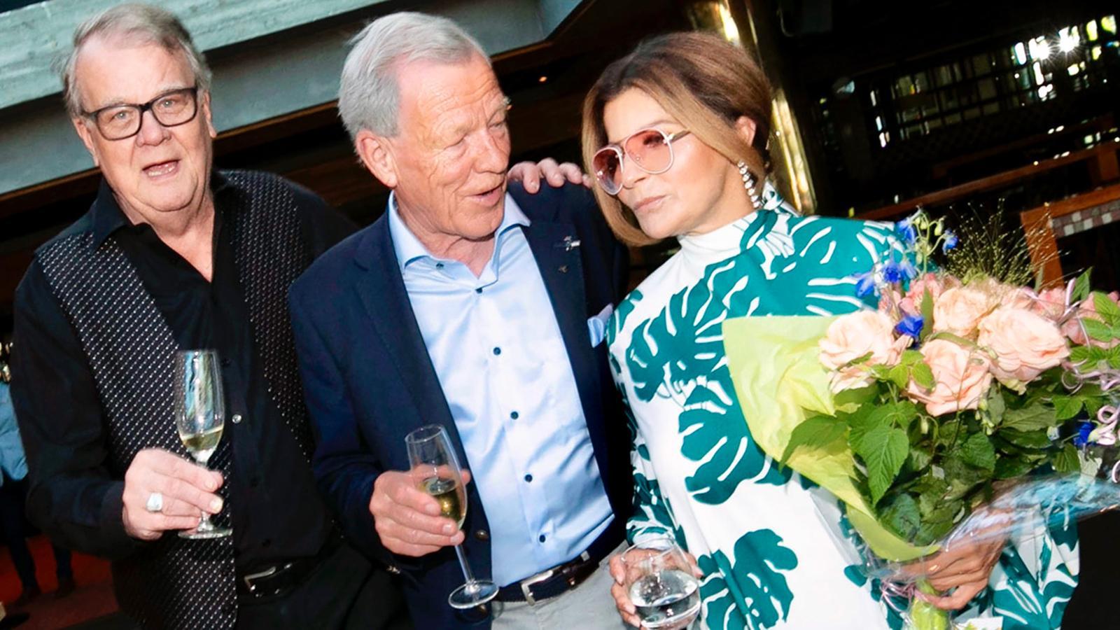 Lasse Berghagen, Anders Wiklöf och Carola.