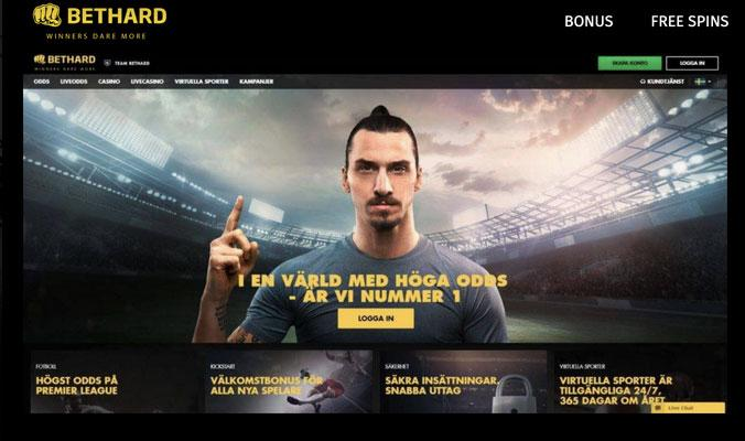 Zlatan on the front page of Bethard April 4 this year