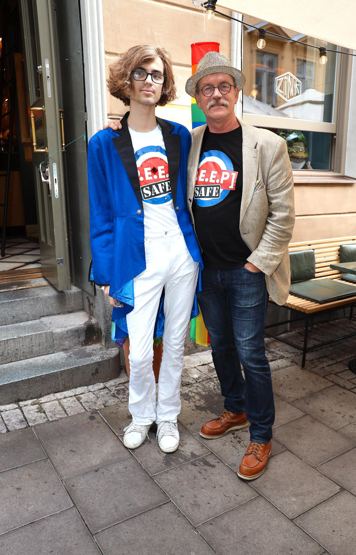 Skådespelaren Thomas Hedengran med sonen Samuel.