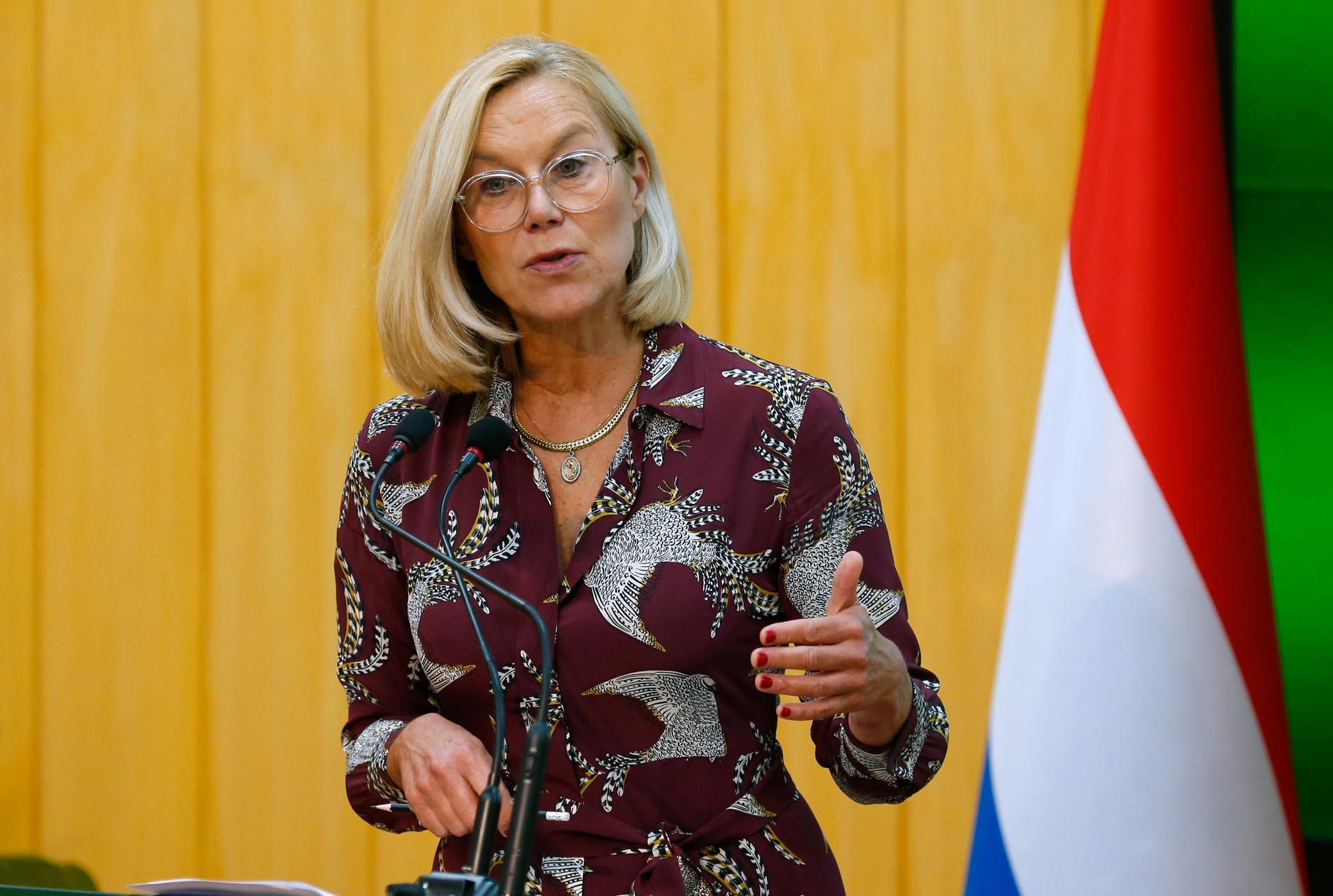Nederländernas utrikesminister Sigrid Kaag tvingades avgå på torsdagen. En majoritet i parlamentet anser att hon misskötte evakueringen från Afghanistan förra månaden. Arkivbild.