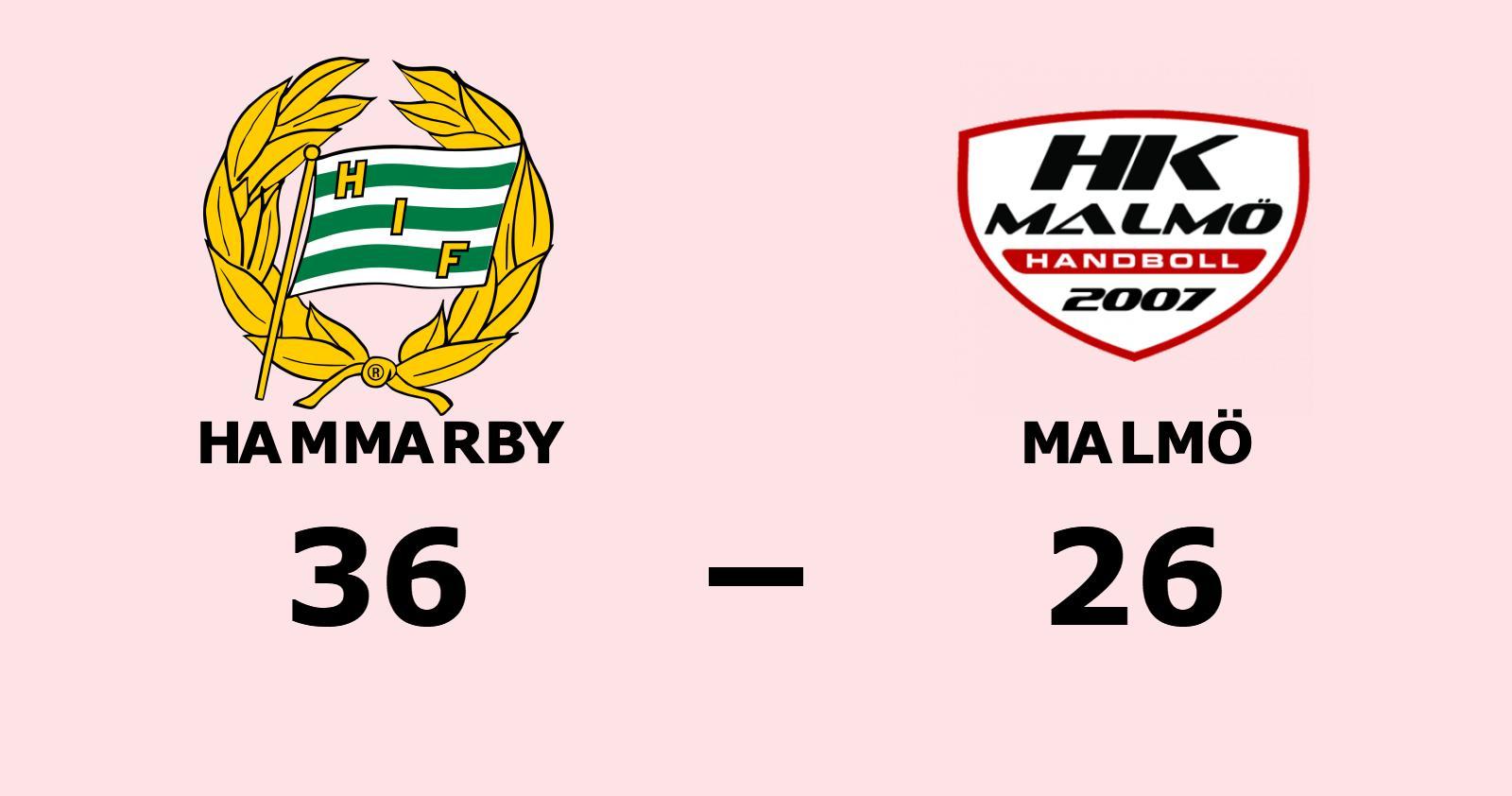 Hammarby vann enkelt hemma mot Malmö
