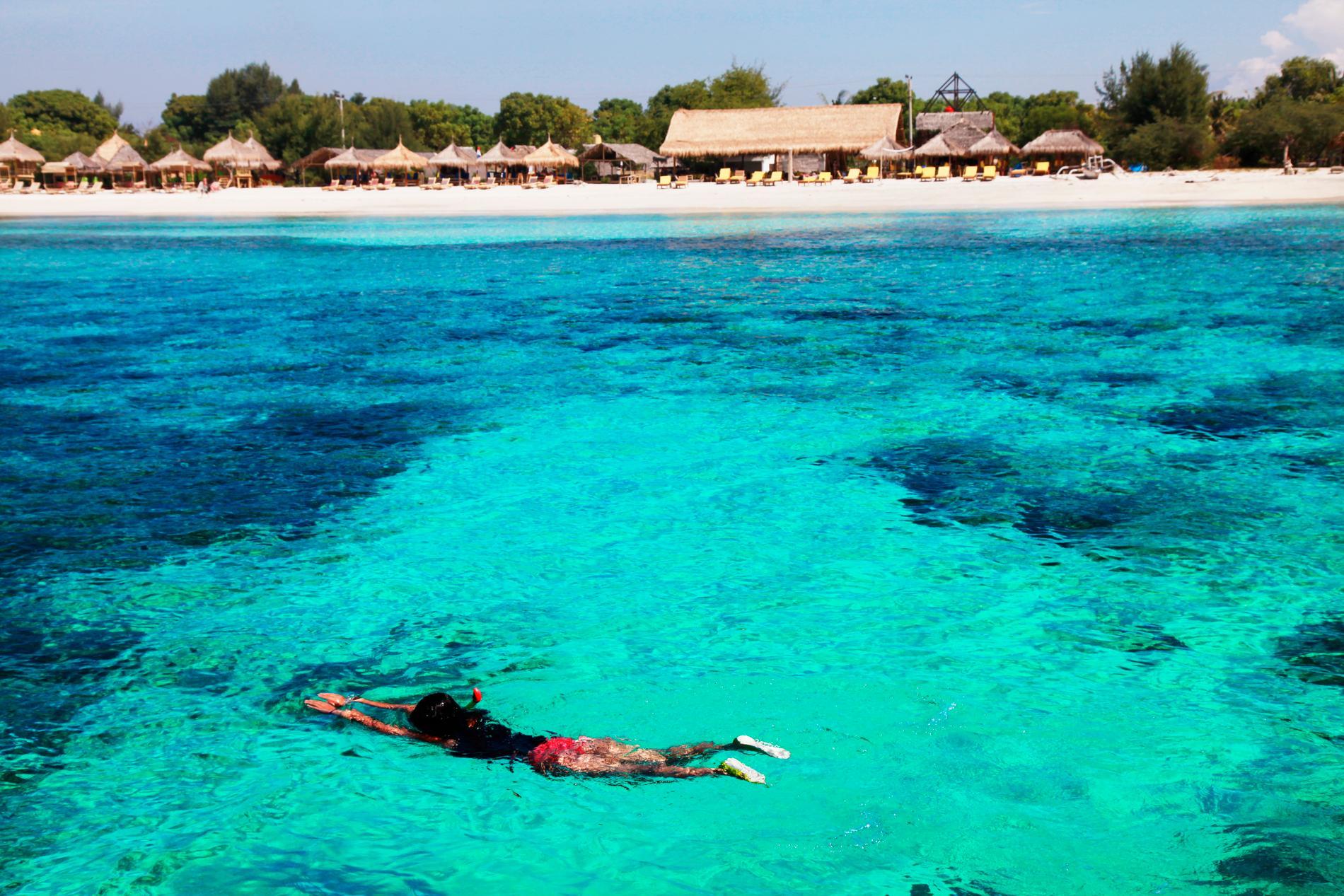 Att snorkla på Giliöarna är populärt.