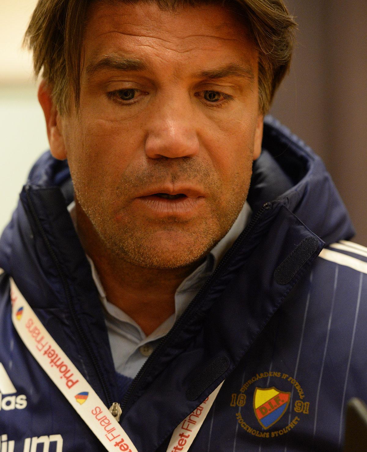Bosse Andersson efter derbyförlusten.