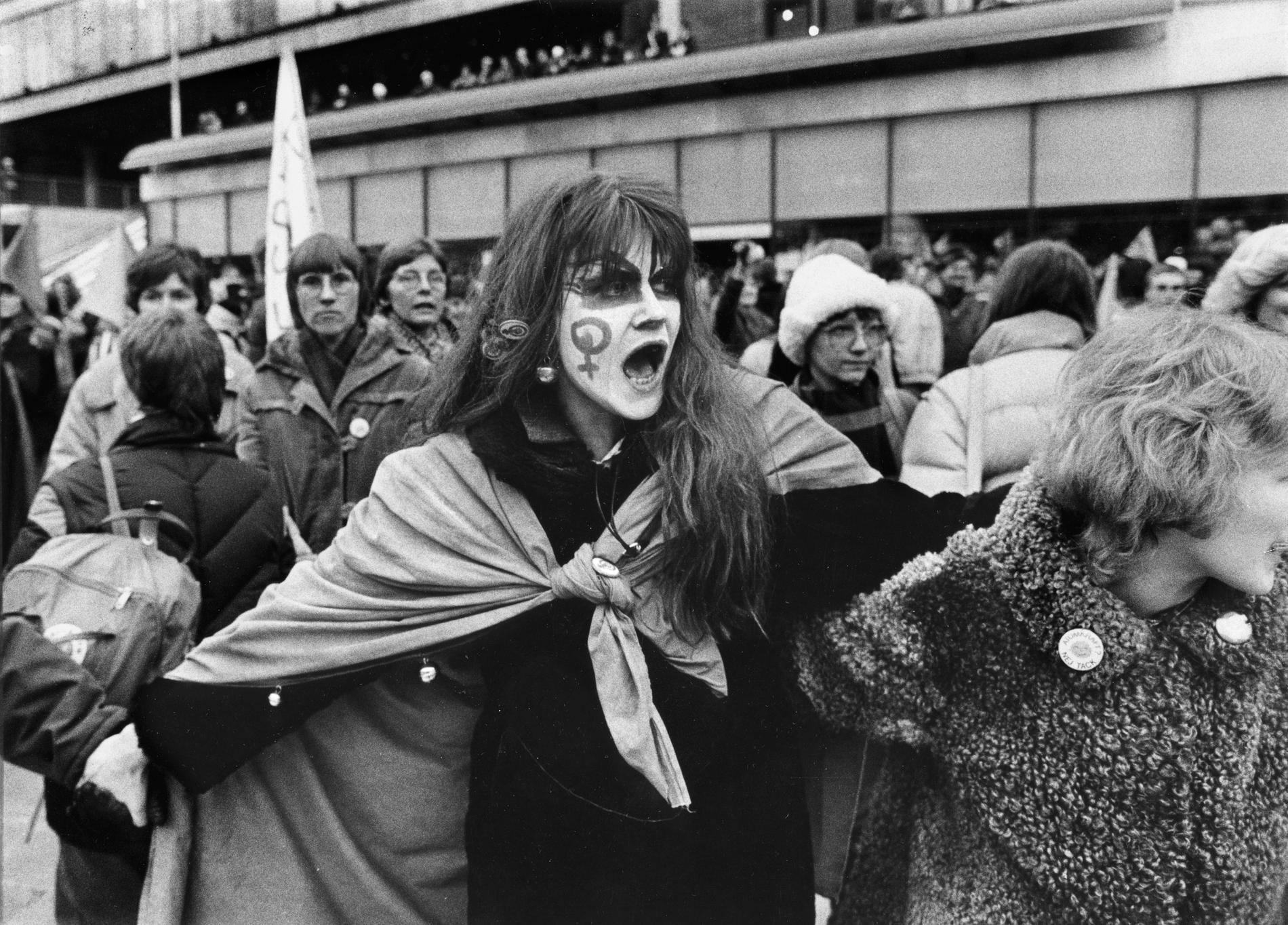 Demonstration på internationella kvinnodagen 1981.