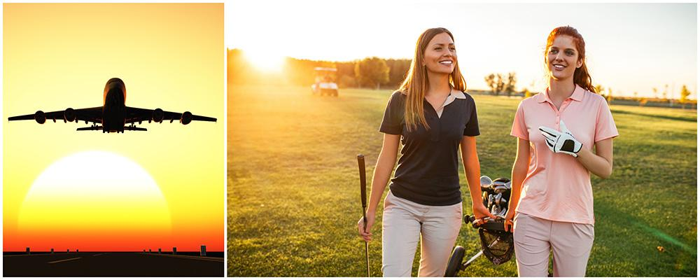 Snart startar årets golfsäsong. Så mycket kostar det att ta med utrustningen på resan.