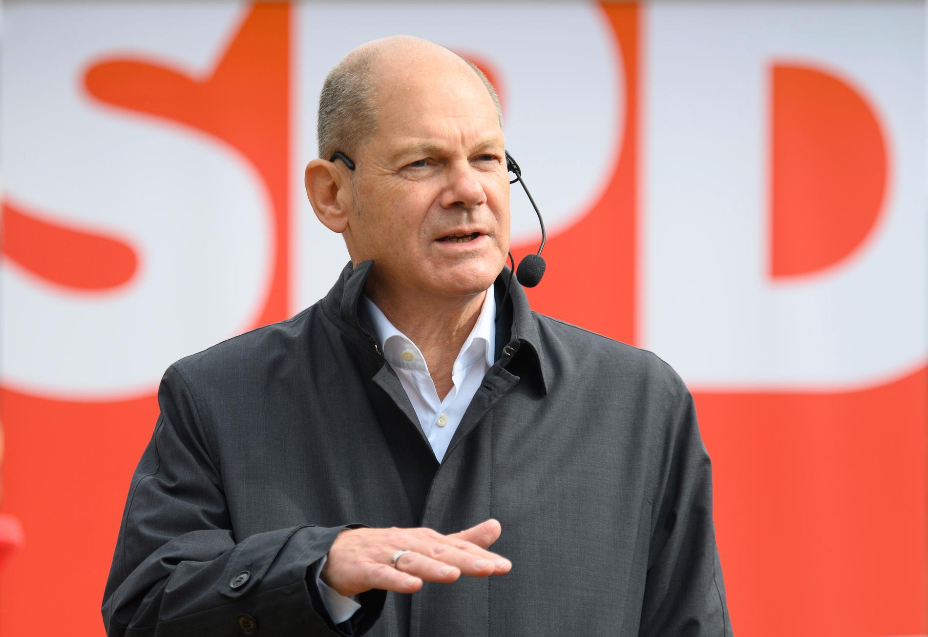SPD-ledaren Olaf Scholz. Arkivbild.