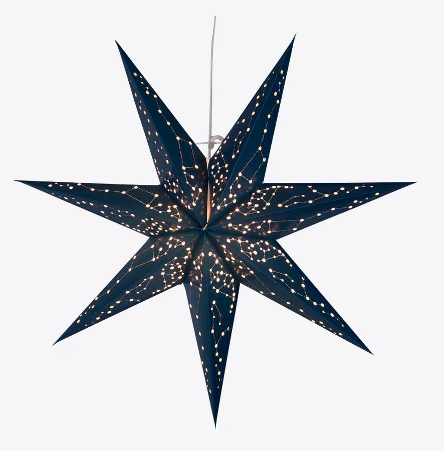 Blå pappersjulstjärna från Jotex