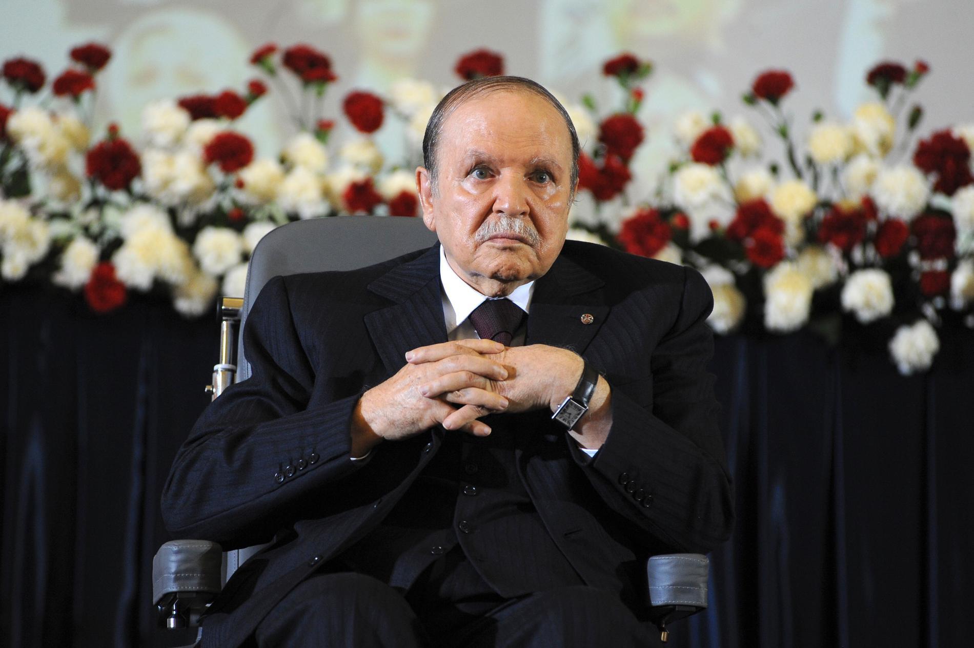 Algeriets förre president Abdelaziz Bouteflika, här på en bild från 2014.