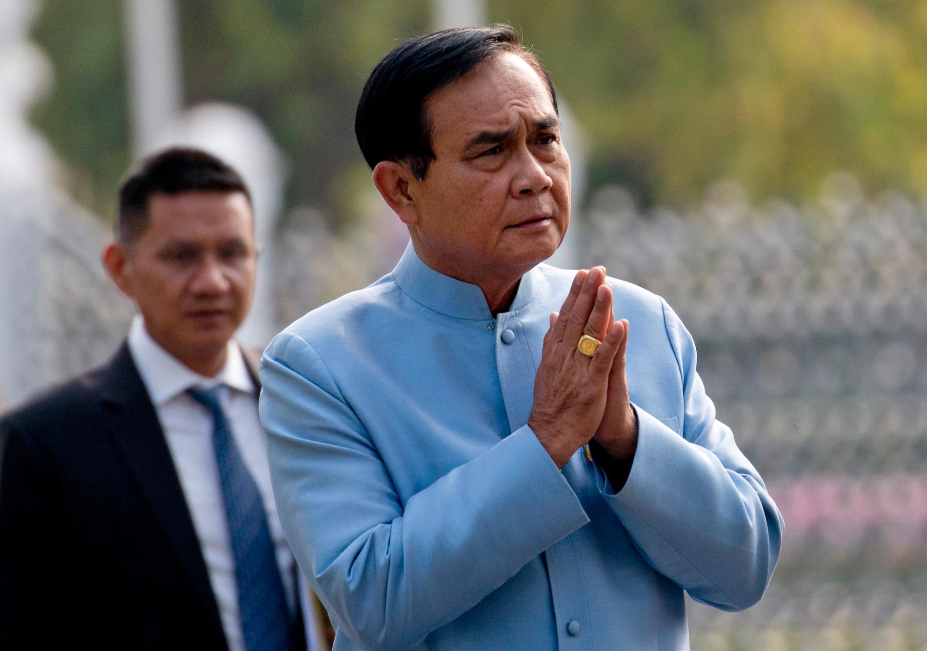Militärjuntans ledare och Thailands sittande premiärminister Prayuth Chan-O-Cha.