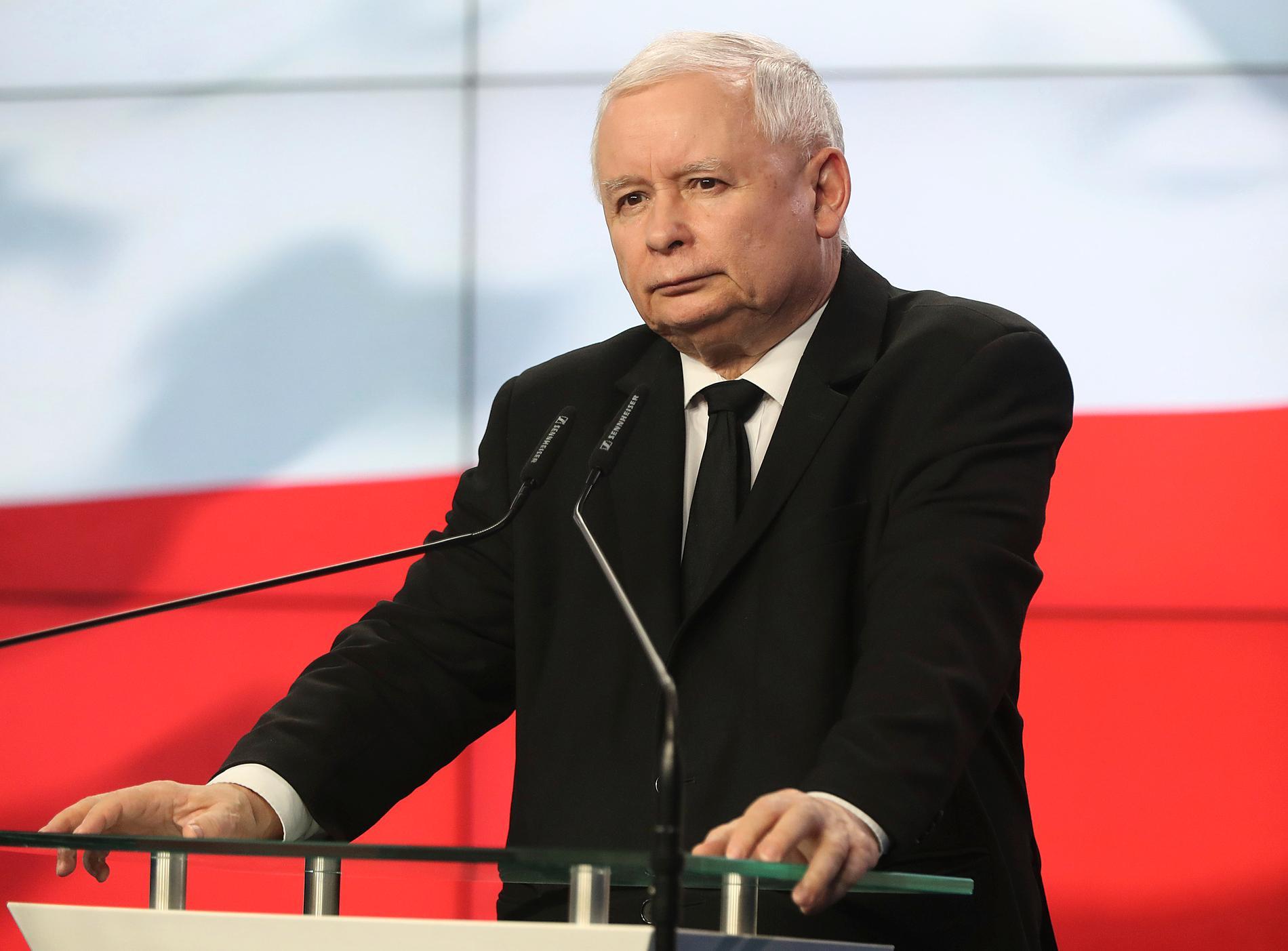 Jaroslaw Kaczynski, ledare för det nationalkonservativa polska regeringspartiet Lag och rättvisa (PIS) i Polen.