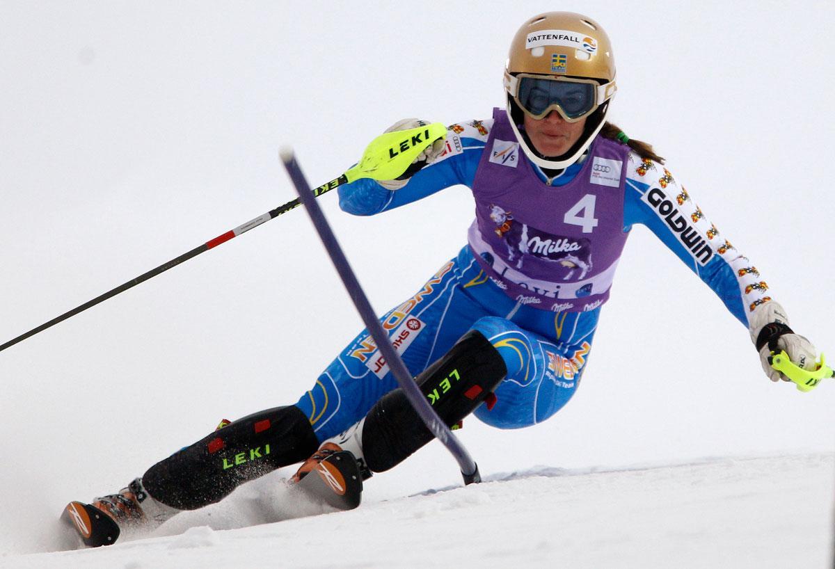 Maria Pietilä Holmner under det första åket.