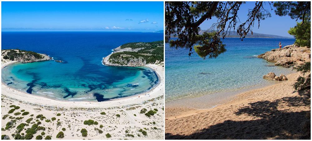 The Guardian har listat Europas 40 bästa stränder. Voidokilia på Peloponnesos i Grekland och Murvica på Brač i Kroatien är med på listan.