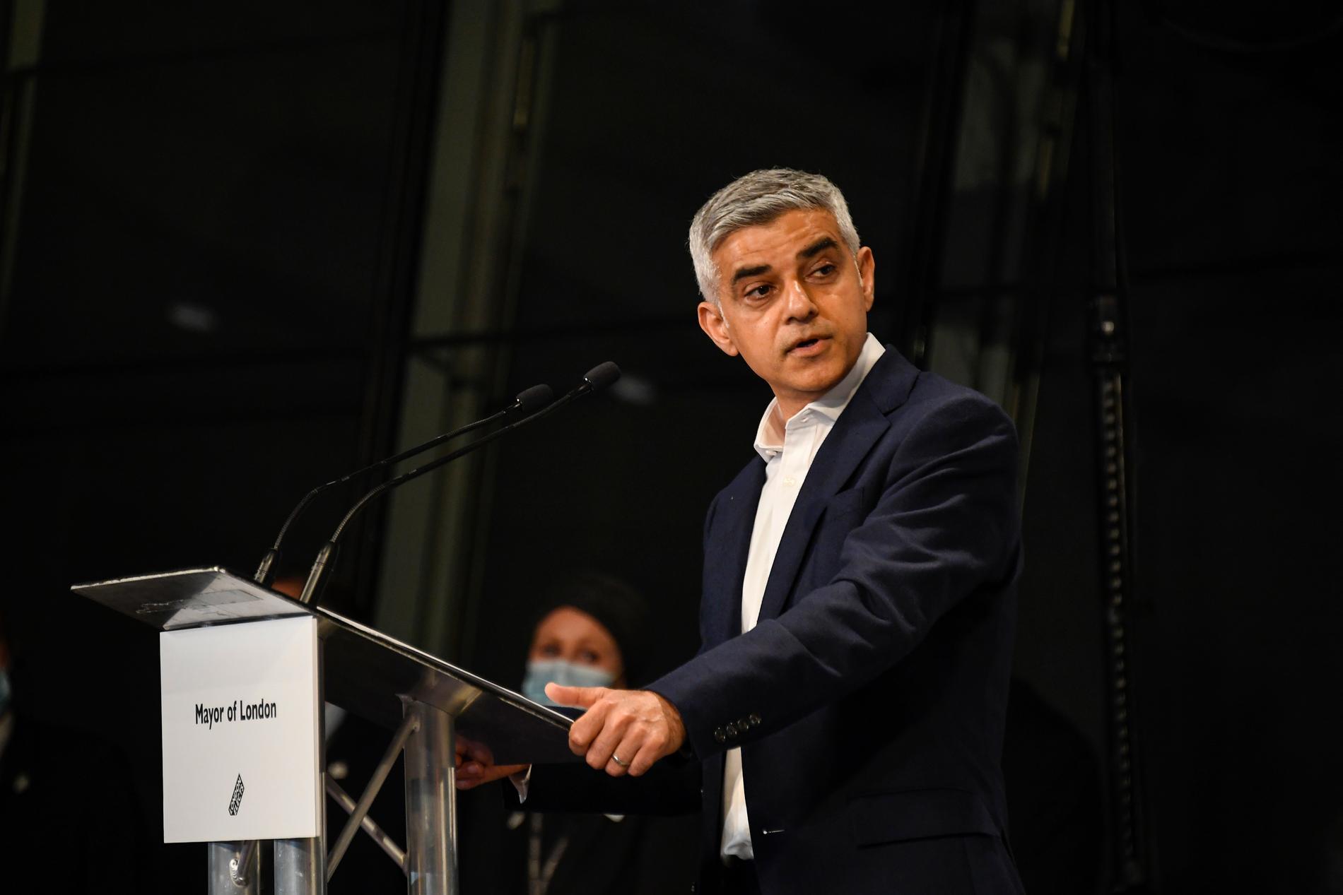 Londons borgmästare Sadiq Khan.