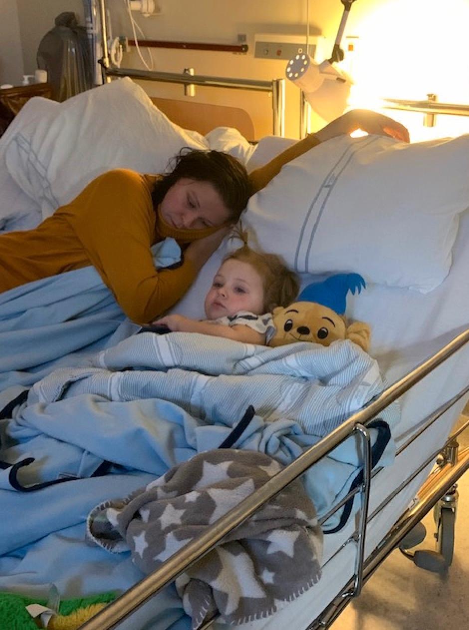 August fick ligga på sjukhuset i cirka en månad efter han fick diagnosen diabetes typ 1.