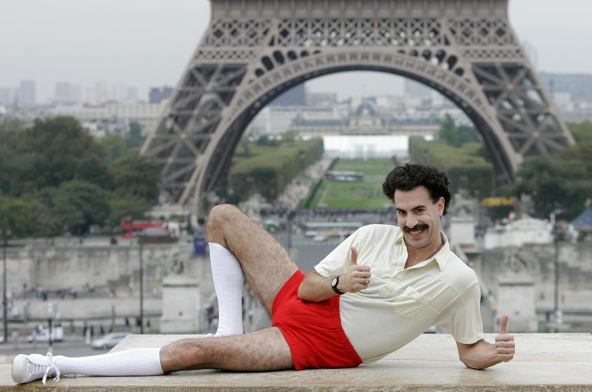 Sacha Baron Cohens kazakstanske tv-journalist Borat är snart tillbaka. Arkivbild.