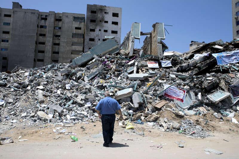 Byggnaden där Al Jazeera (och också AP) hade sitt kontor blev bombat av Israel.