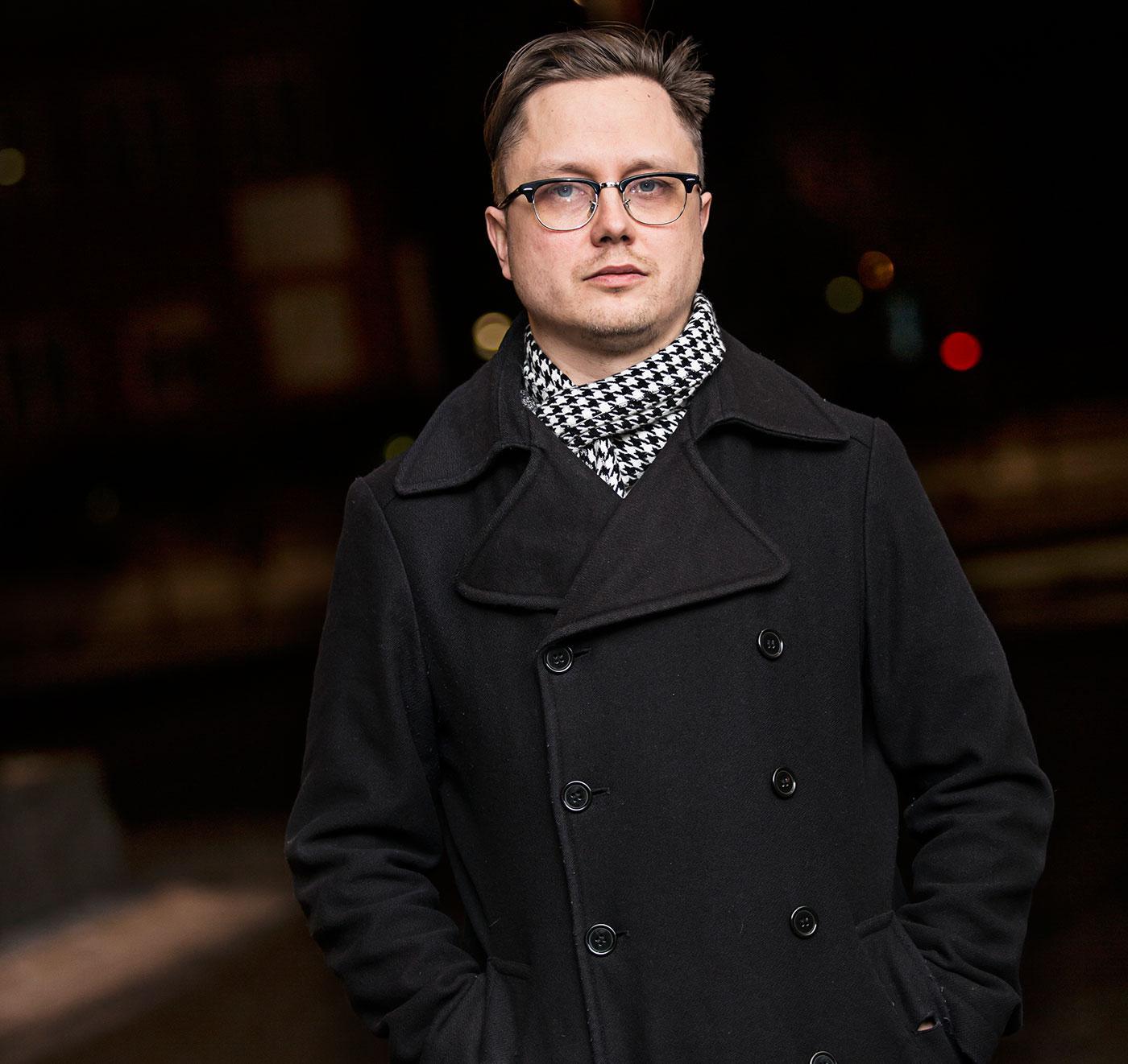 En uppsluppen Markus Larsson i Göteborg.