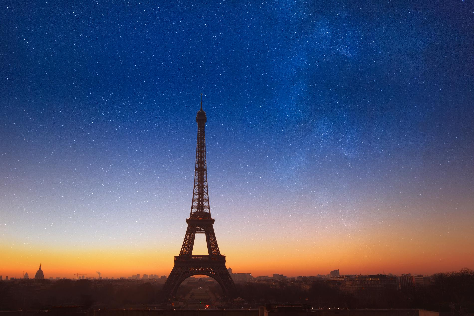 Det är Eiffeltornets ljusshow som är skyddad av upphovsrätt.