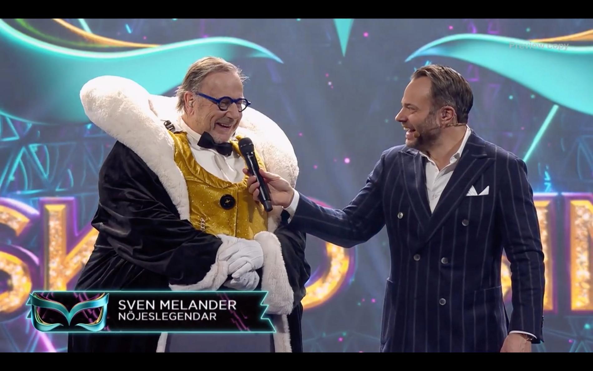 Sven Melander doldes under Pingvinens mask