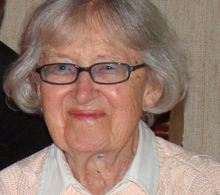 Britta Svenssons chica mamma vid 90 års ålder.