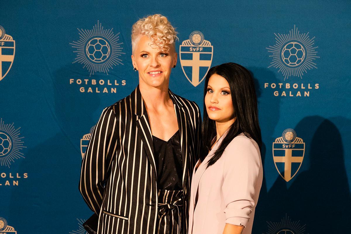 Nilla Fischer och frun Mika.