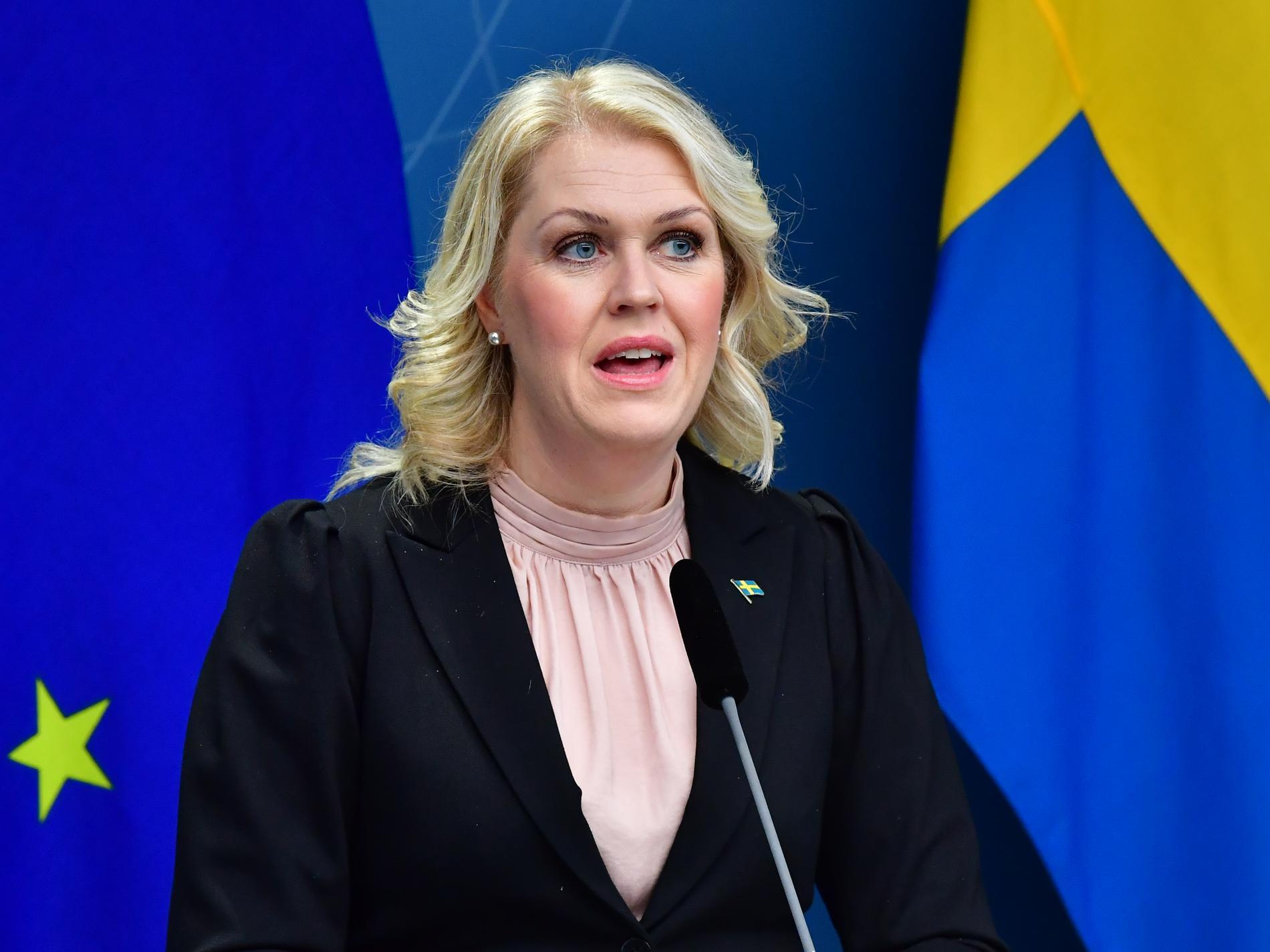 Socialminister Lena Hallengren.