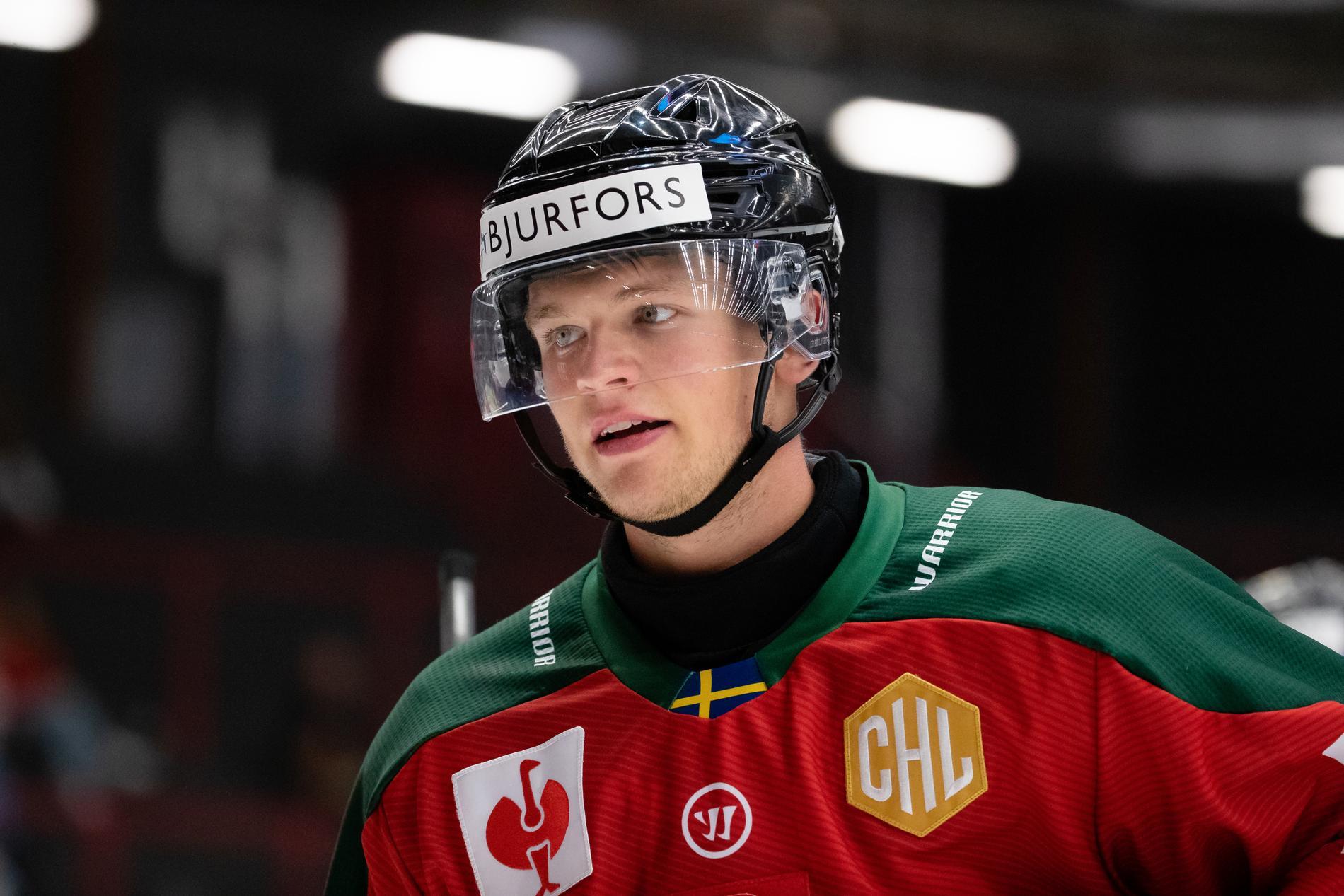 Mattias Norlinder i Frölundadressen i CHL häromveckan.