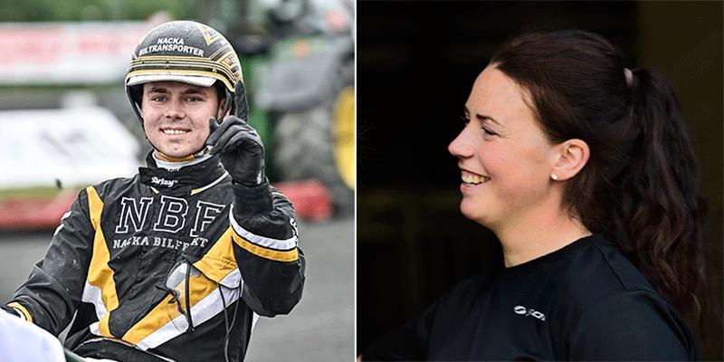 William Ekberg och Charlotte Andersson är duon som får ta emot Stig H:s stipendiat.