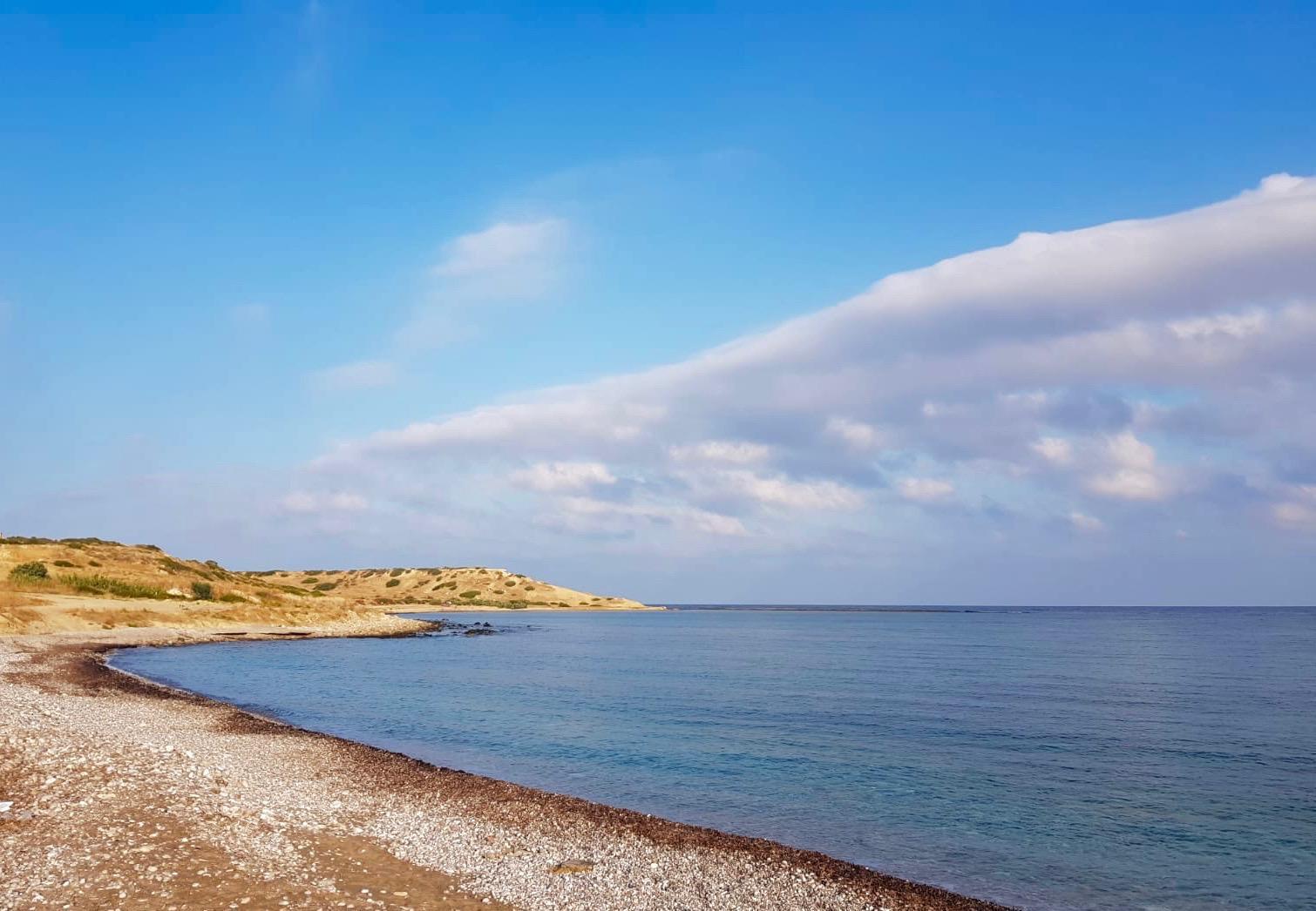 Runt Norra Cypern finns gott om tomma stränder.