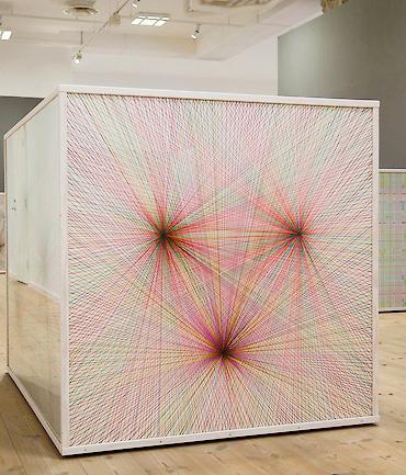 Ett av Eva Larssons verk i utställningen Box. Foto: Kalmar konstmuseum