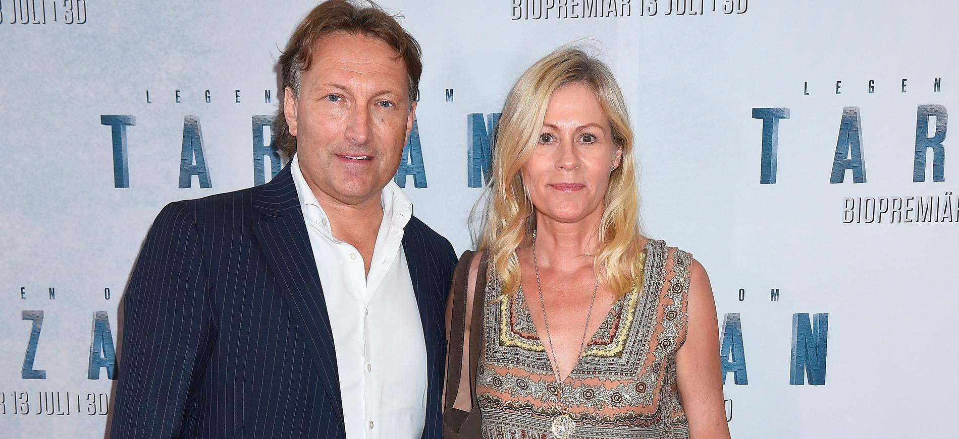 Nina Gunke med maken Samuel Holgersson 2016.