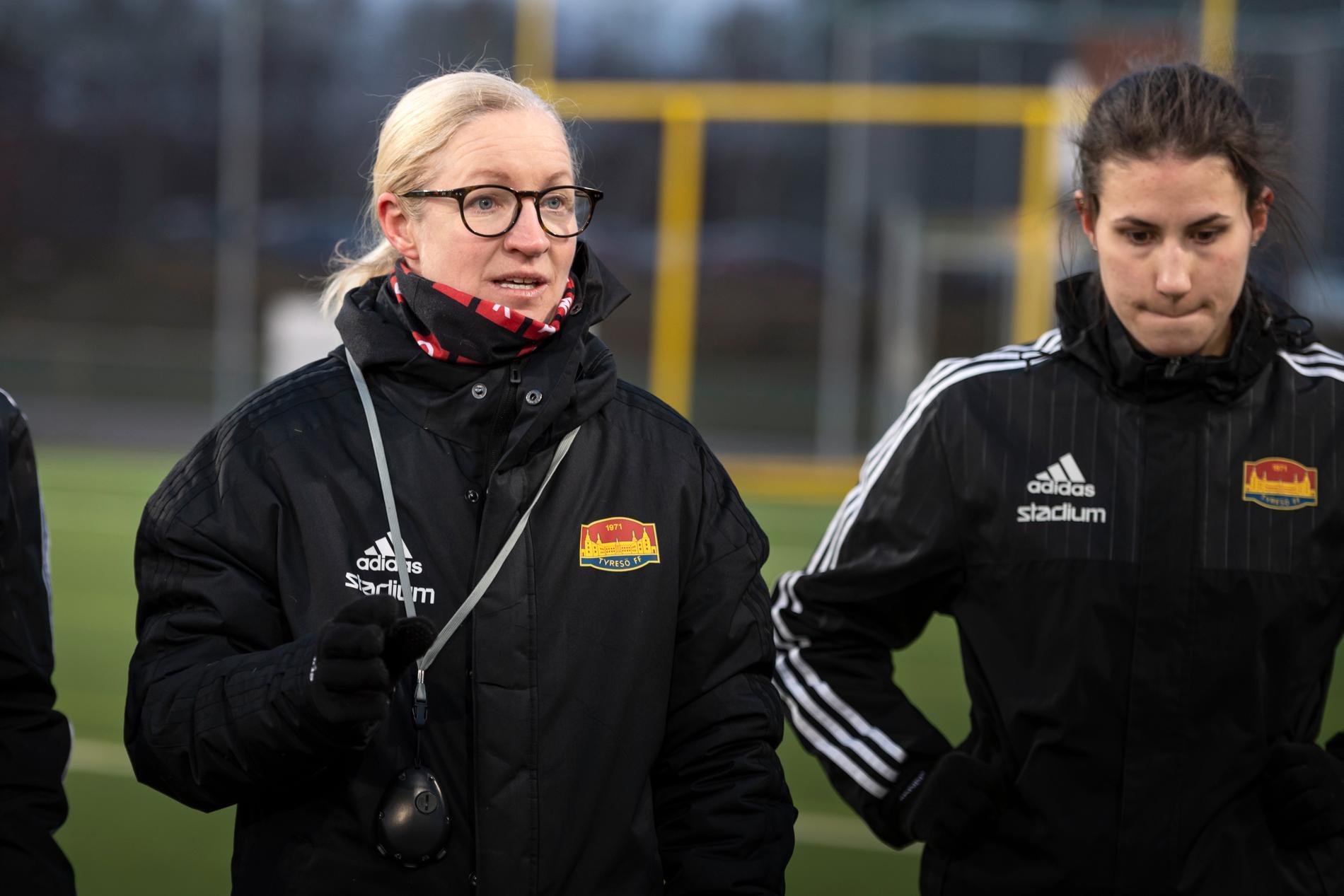 Victoria Sandell var tidigare huvudtränare för Tyresö FF:s damer. Arkivbild.