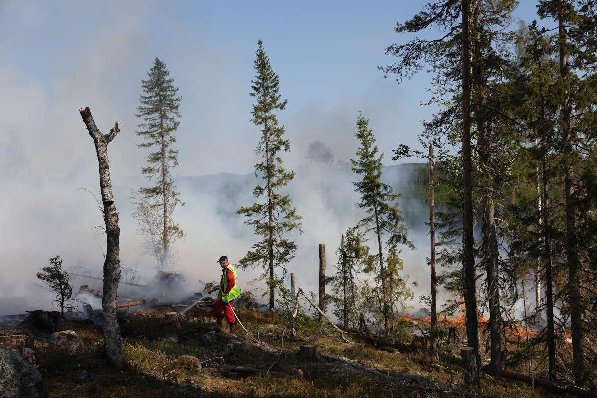 Det brann på flera ställen i Västernorrland.