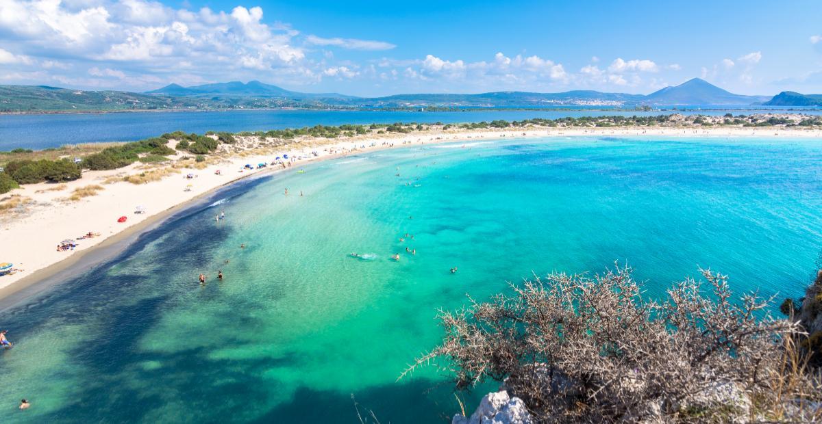 Voidokilia, Peloponnese, Grekland