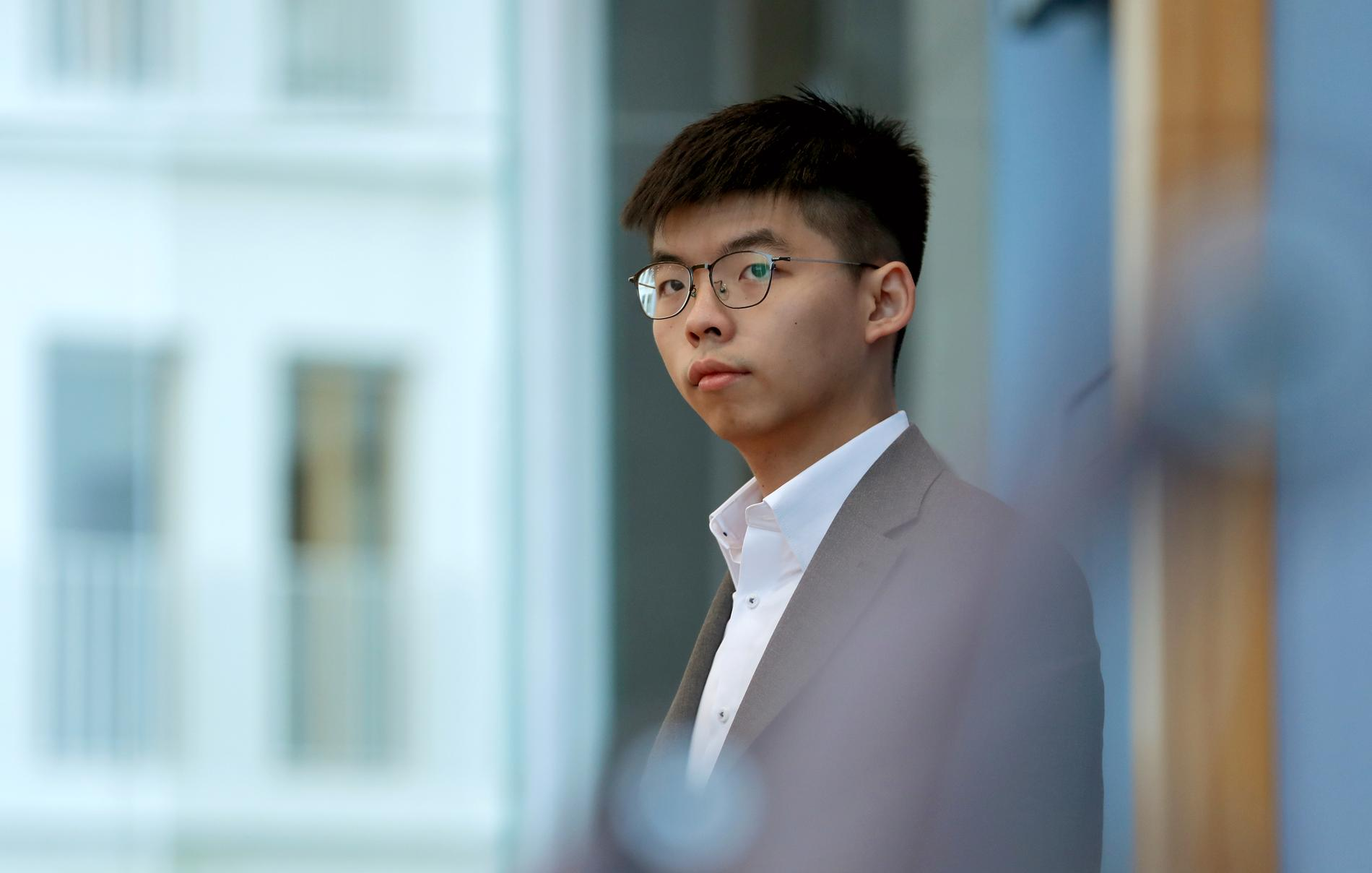 Joshua Wong i Berlin.