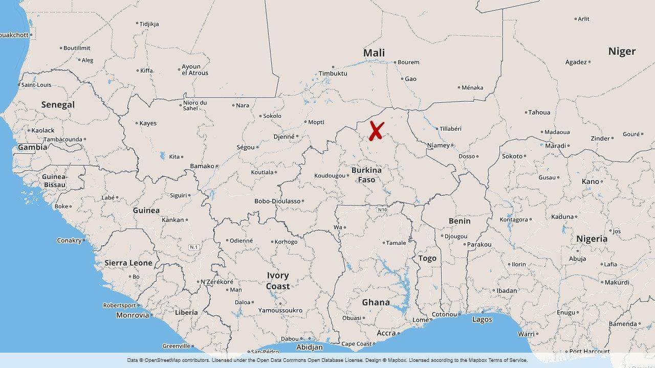 Fyra kristna har dödats i en attack mot en katolsk procession i Burkina Faso.